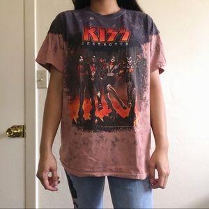 KISS Band tie dye T-shirt